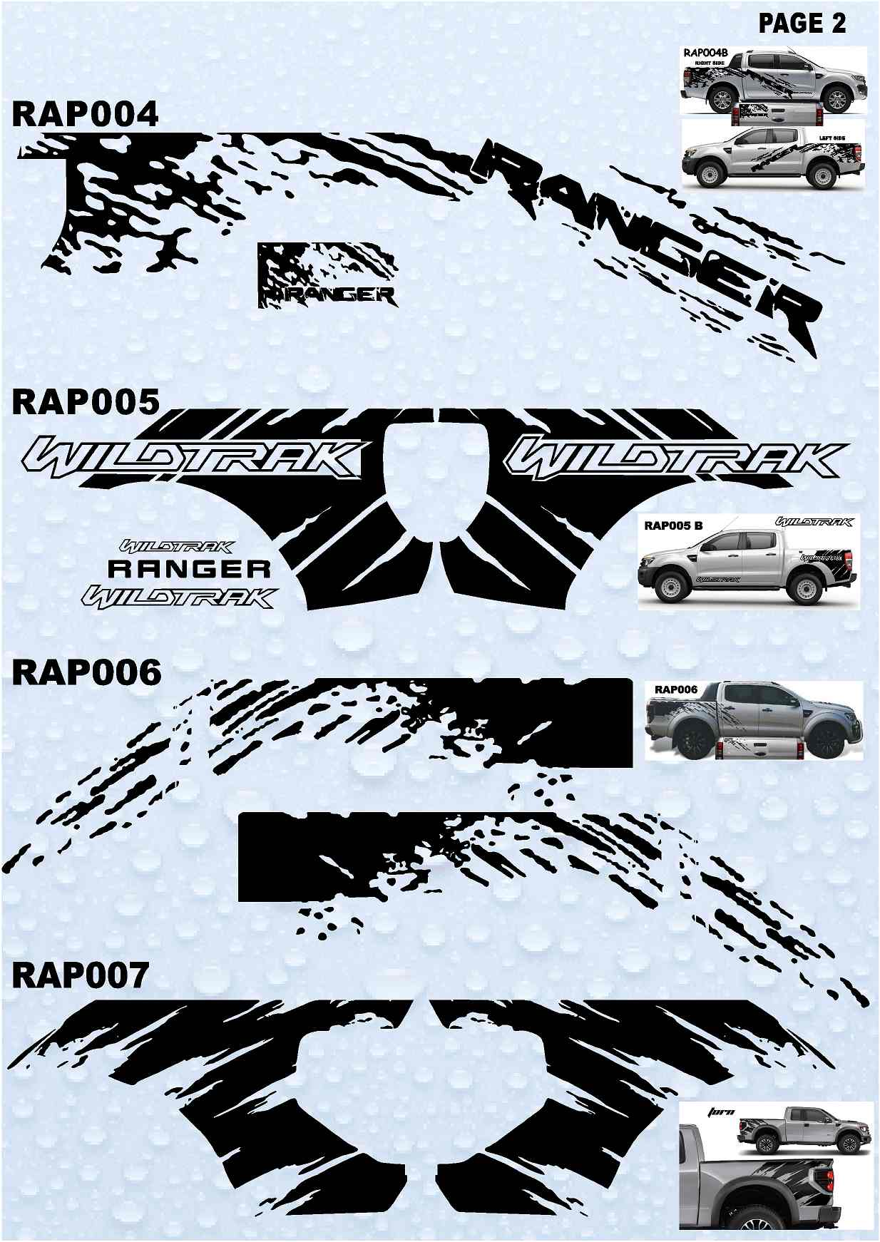 Raptor Ranger Stickers 4 X 4 Stickers Collection 2