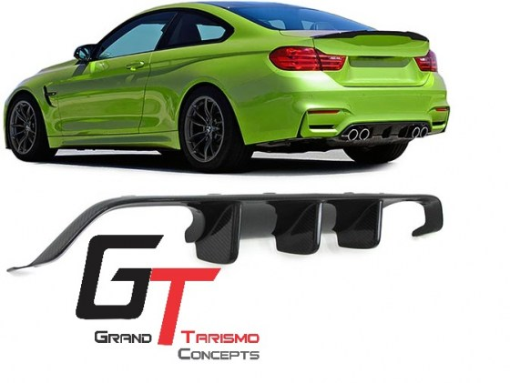 BMW F80 M3 F82 M4 M-Performance Carbon Fiber Diffuser.pd3