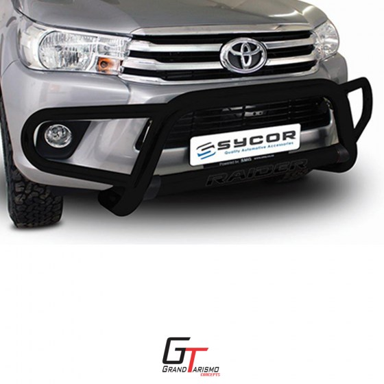 BS-80059 Hilux New Blk Stainless Tri Bumper