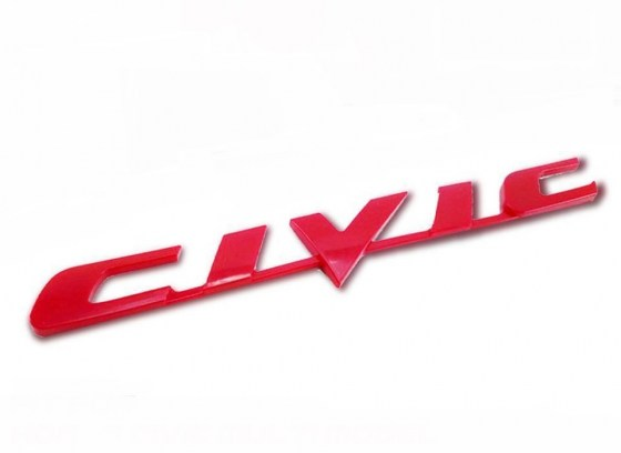Civic Badge Red R70