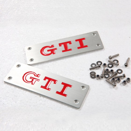 GTi Aluminum Floor Mat Badge R199