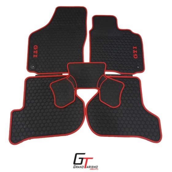 Golf 6 GTi Rubber Mats 5PC R499