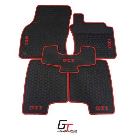 Golf 7 GTi Rubber Mats 5PC R499