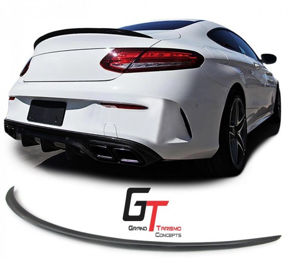 MB W205 Coupe AMG Style Carbon Fibre Boot Spoiler.pd9