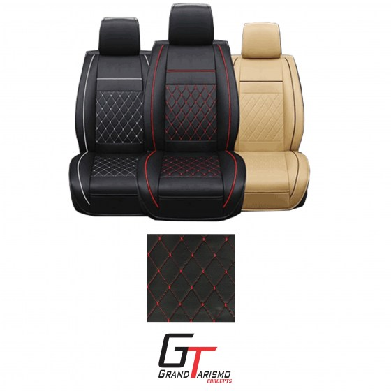 Seat covers black with red