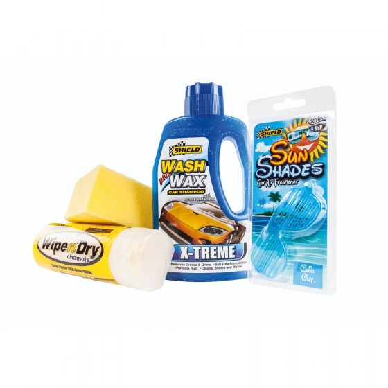 Shield Wash & Wax Kit 4pc