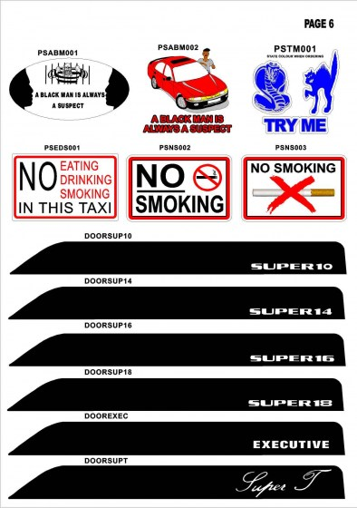 Taxi Stickers3