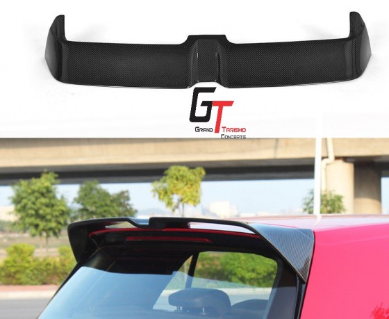VW Golf 7 GTi-R Oettinger Style Carbon Fibre Roof Spoiler.pd1
